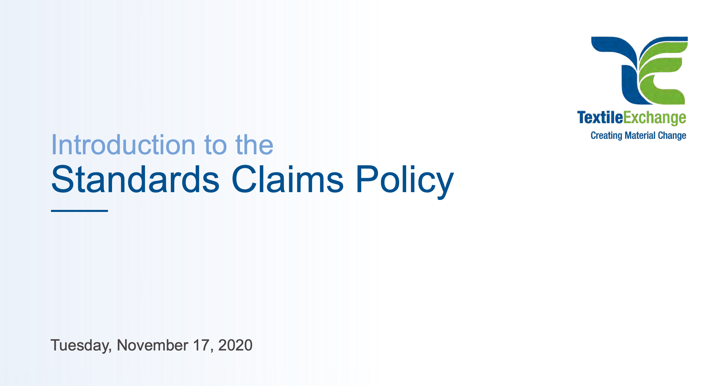 Standards Claims Policy